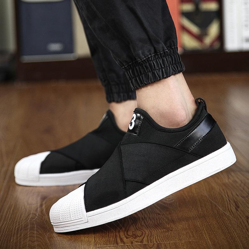 ... casual shoes for men fashion trend korean mens skateboarding shoes  cross-tied ocrstio