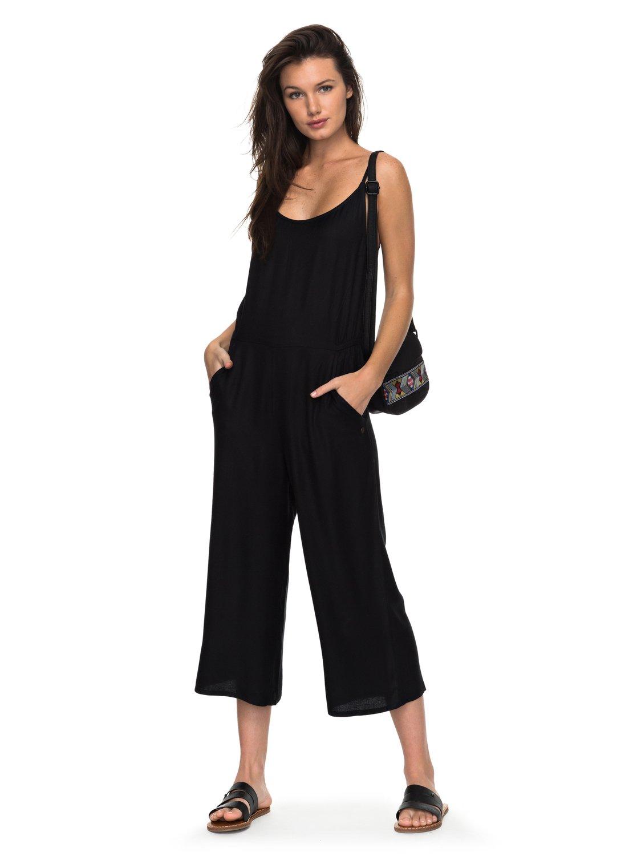 0 great feeling in it wide leg jumpsuit black erjnp03150 roxy hqvrwhd