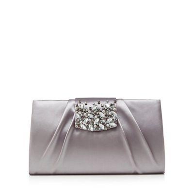 1 jenny packham grey satin embellished clutch bag   debenhams jklybdm