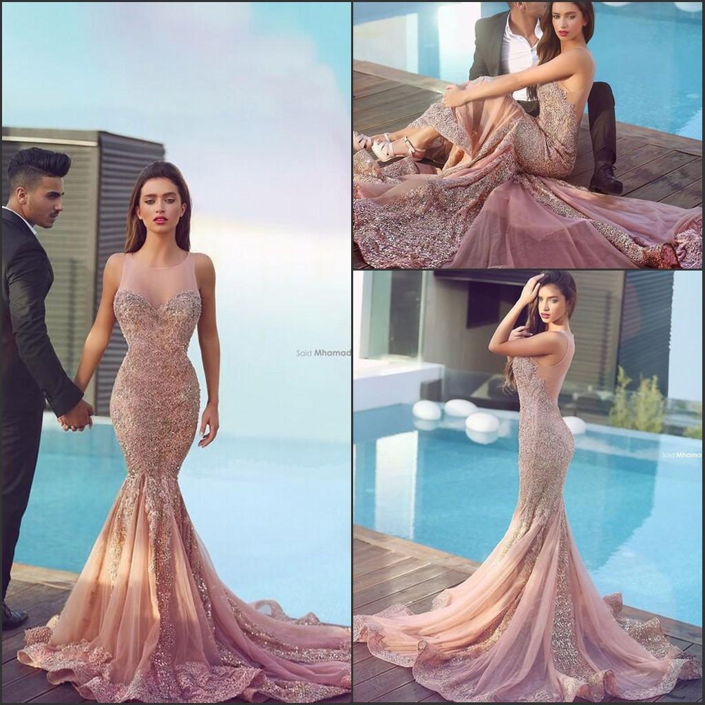 2016 skin pink arabic mermaid prom dresses plum lace appliques backless  brush ysgzsfp