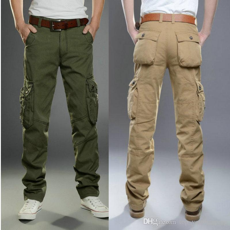 2018 menu0027s trousers fashion casual cargo pants men wear cotton spring  summer nwzedfo