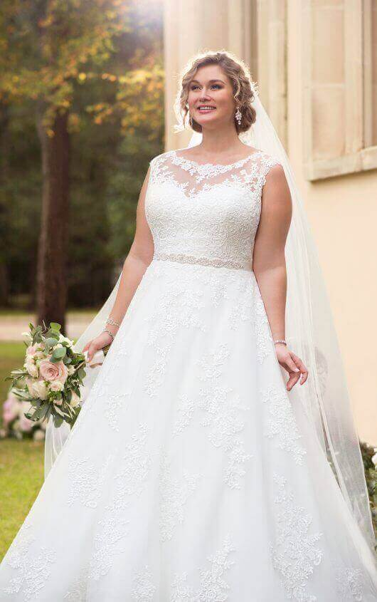 6303+ traditional ball gown plus size wedding dress by stella york ivpnsug