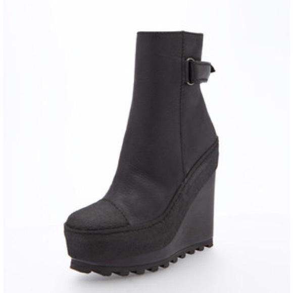 acne shoes - acne hero wedge boots gzoluoz