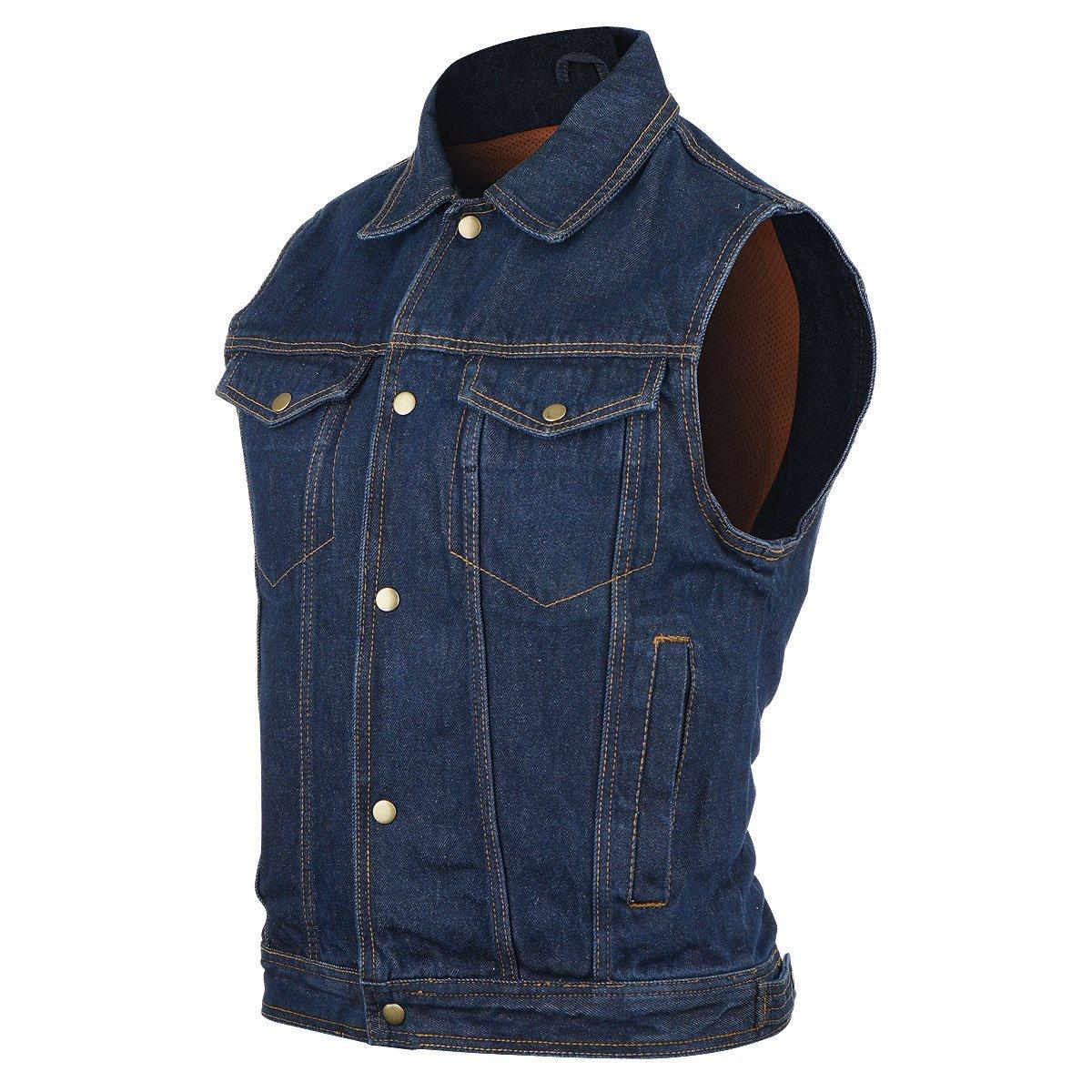 amazon.com: mens blue denim jean vest xs: sports u0026 outdoors nmltkel