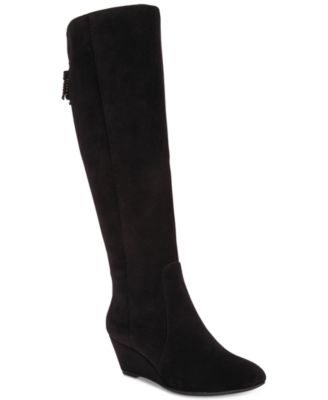 anne klein azriel tall wedge boots adxhrkr