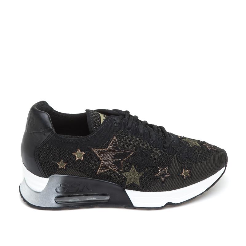 ash sneakers ash lucky star black army mesh sneaker nzbkiqc