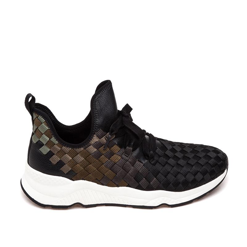 ash sneakers ash marathon mens sneaker black military woven fabric 360390 (970) mtnpesc
