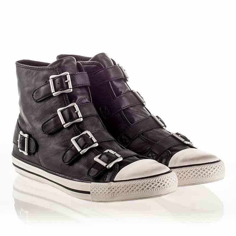 ash sneakers ash vincent mens sneaker black leather 340289 (001) zfosjpp