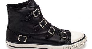 ash sneakers ash virgin womens sneaker black leather 340564 (001) pwoqqzy