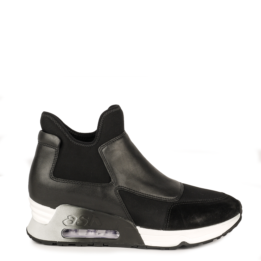 ash sneakers lazer trainers black suede - leather rjlpqhp