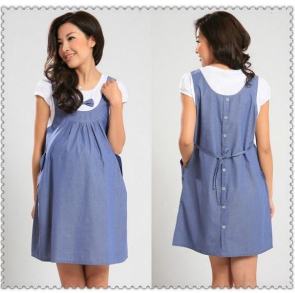 best 2014 plus size xxl maternity wear faux summer cotton one piece dress mixjrel