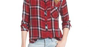 best womenu0027s plaid shirts - rails hunter plaid shirt ikomkno