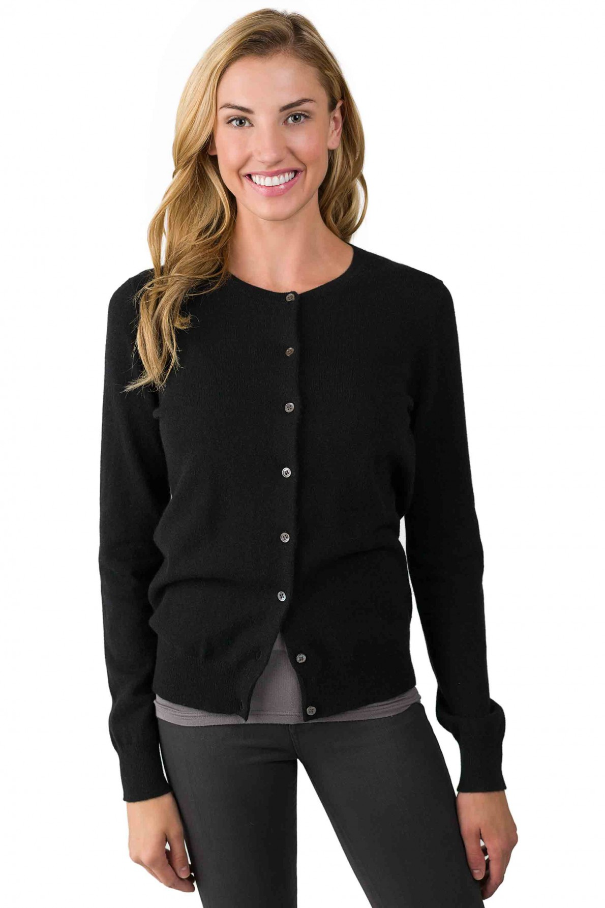 black cardigan black cashmere button front cardigan sweater right front view rutzwjy