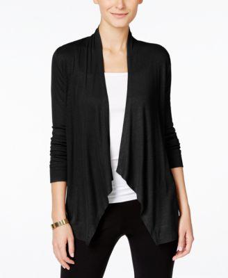 black cardigan inc international concepts draped cardigan, created for macyu0027s vaztpir
