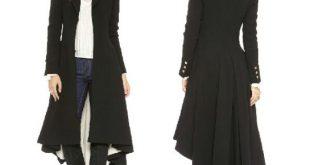 black over coats british style tuxedo manteau femme black long coats for gxnyzyw