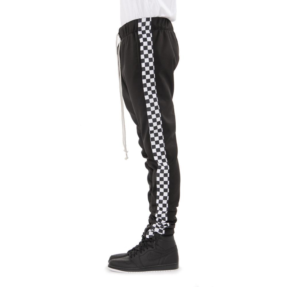 black-racing track pants xskjszm