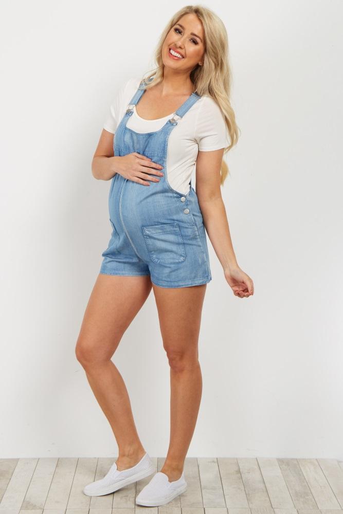 blue denim overall shorts teilpio