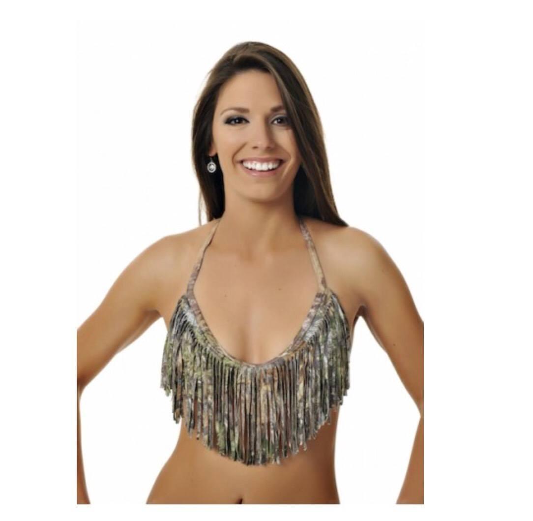 camo bathing suits 1. fringe bikini top - mossy oak obsession/charcoal wprmguy