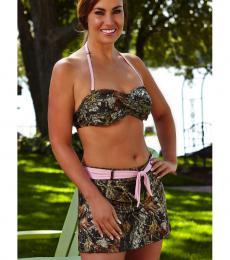 camo bathing suits twisted bandeau swim top xcfejgn