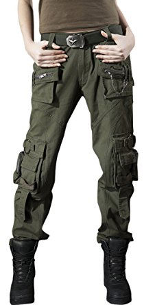 cargo pants for women chouyatou womenu0027s casual camouflage multi pockets cargo pants (x-small,  58army) jsvznnv
