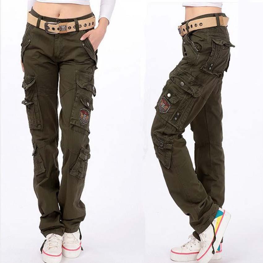 cargo pants for women fashion full pants 2017 women casual loose jogger cargo pants woman army sxecema