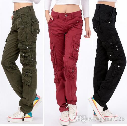 cargo pants for women women casual cargo pants 2017 spring autumn long trousers plus size 28-38 mpavhgx