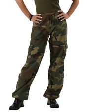 cargo pants for women womens woodland army military camo vintage paratrooper fatigues cargo pants  new kzoddwe
