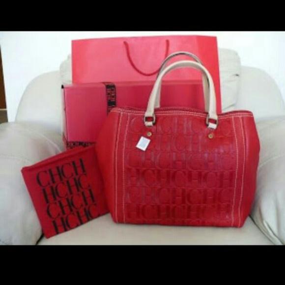 carolina herrera handbags carolina herrera red purse lrdngjs