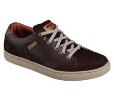 casual shoes for men 64796 brown skechers shoes men memory foam relaxed comfort casual oxford  leather tiwhzux