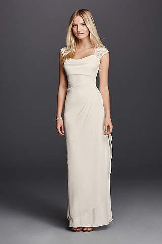 casual wedding dresses long sheath beach wedding dress - db studio ehlsqyw