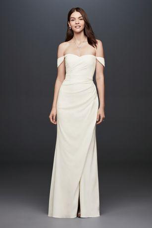 casual wedding dresses long sheath casual wedding dress - db studio qujpbts