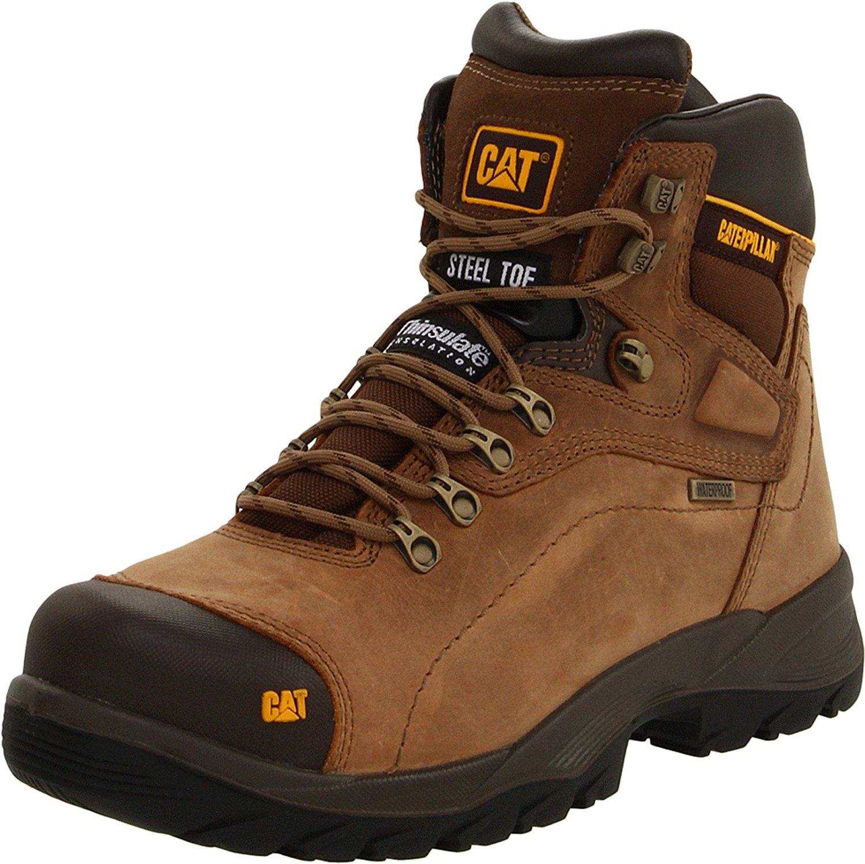 cat shoes amazon.com | caterpillar menu0027s diagnostic waterproof steel-toe work boot |  industrial u0026 ruthvxf
