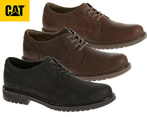cat shoes caterpillar-mens-black-real-leather-casual-cat-shoes- cybgntz