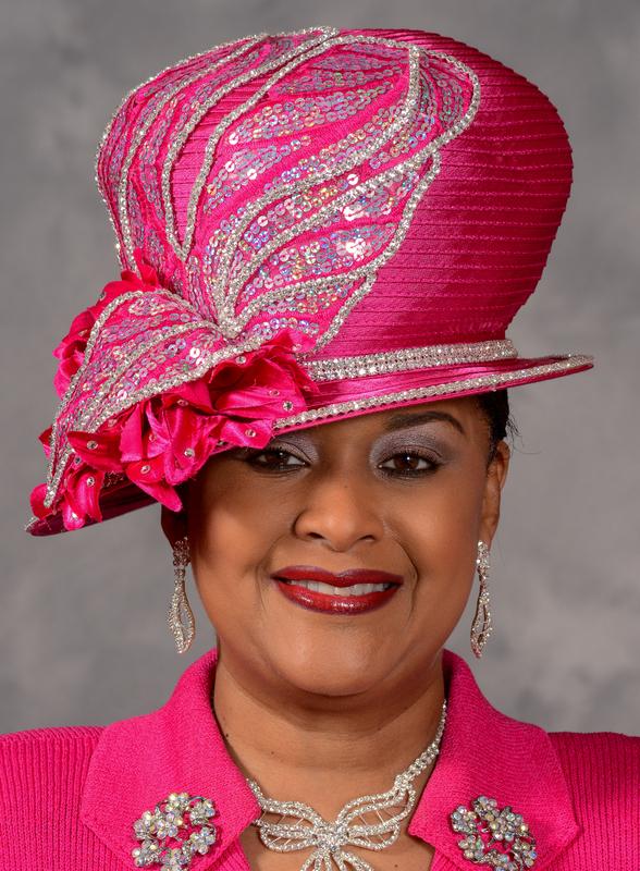 church hats eve andrea asymmetric brim church hat in hot pink guuzxpt