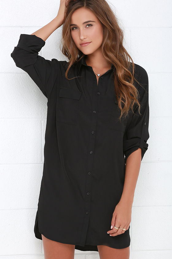 Look stylish and feel comfortable with shirt dress