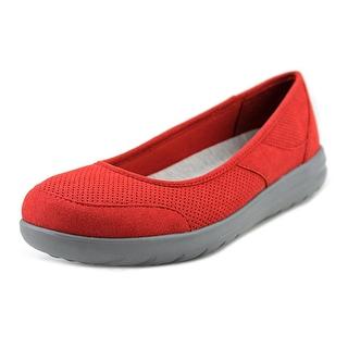 clarks jocolin myla women w round toe canvas red flats kvgqges