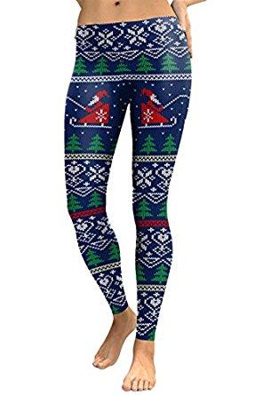 cocoleggings womens digital print ugly christmas sweater leggings tights fxavxjz
