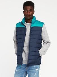 color-blocked frost-free vest for men jomumzh
