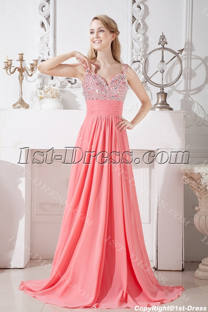 coral long evening dress for party. loading zoom wxmffeq