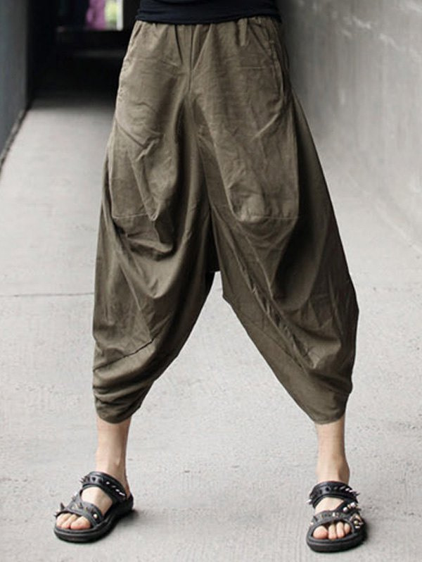 cotton linen low-slung crotch nine minutes of parachute pants wnkkmhs u2026 tgnrxrc