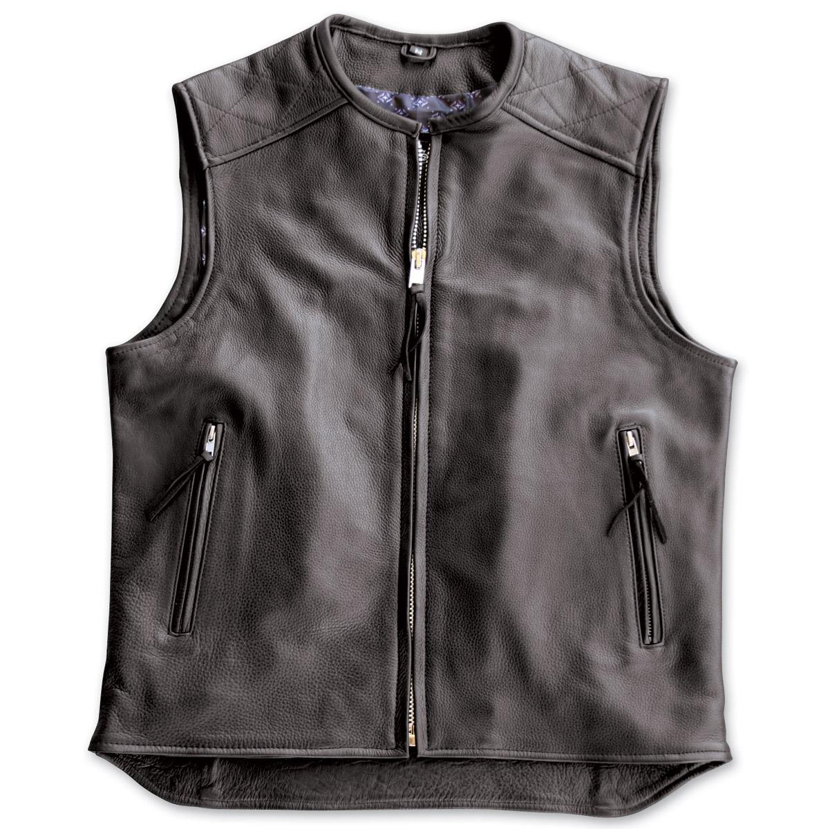 crank u0026 stroker supply hardball motorcycle black leather vest ... pjdltxt