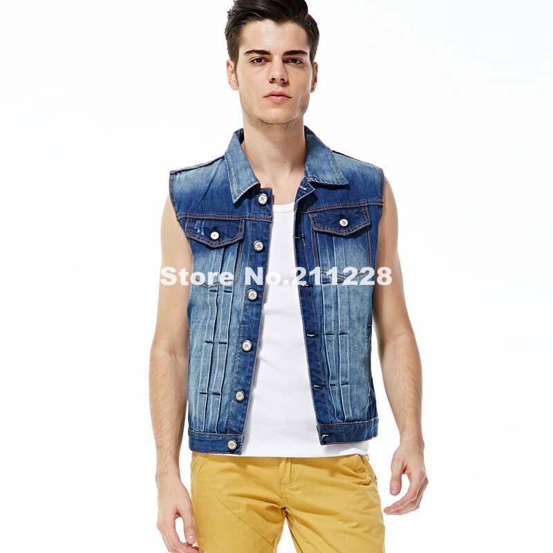 denim vest for men aliexpress.com : buy 2016 new menu0027s slim fit casual blue denim vest , lvugkuw