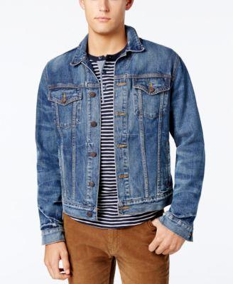 denim vest for men tommy hilfiger menu0027s classic denim jacket zbqmyah