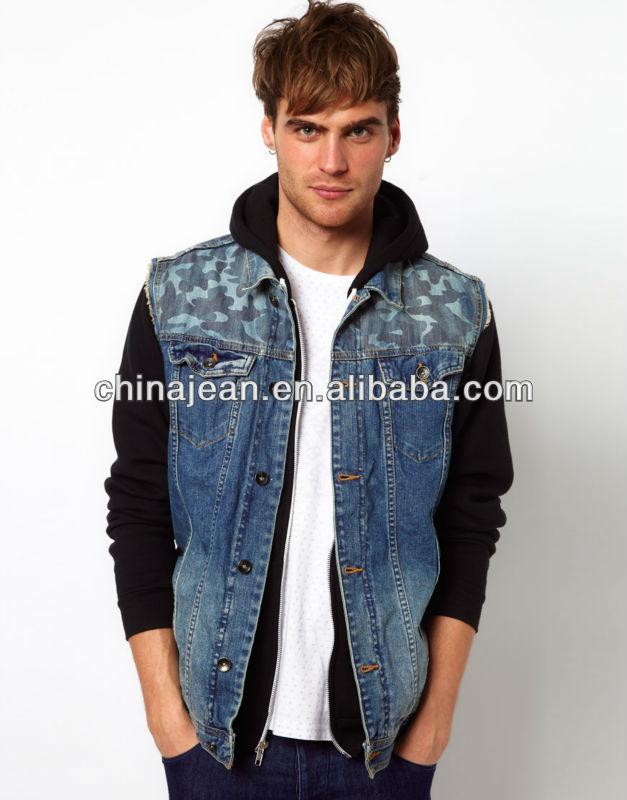 designer patchwork denim vest for men 2017 (jx3173) qxicghl