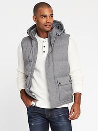 detachable-hood frost free vest for men cimlhmb