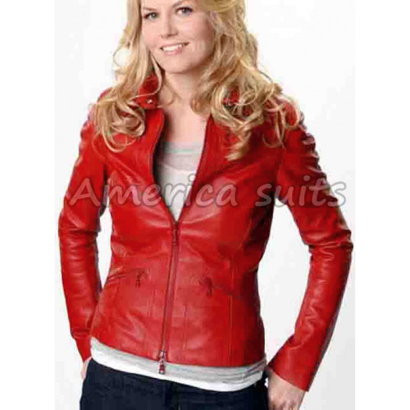emma swan red leather jacket for women dhxojhj