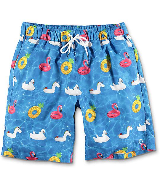 empyre dubtub pool float elastic waist board shorts ... grgblvh