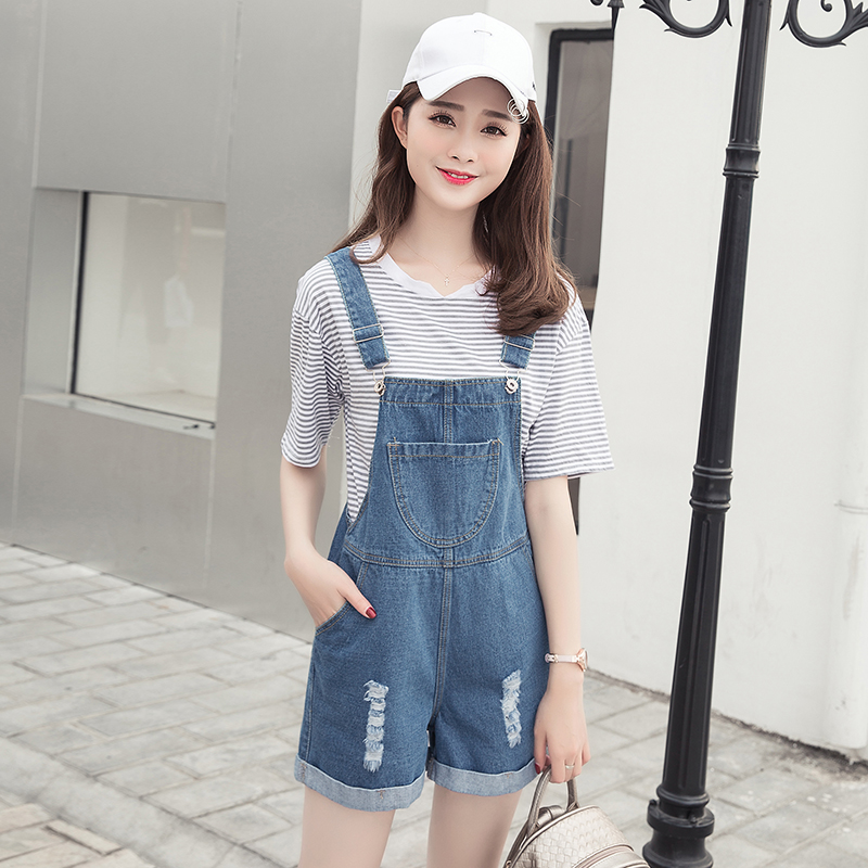 exotao distressed overall shorts for women summer 2017 new fashion casual  loose zxrjtiz