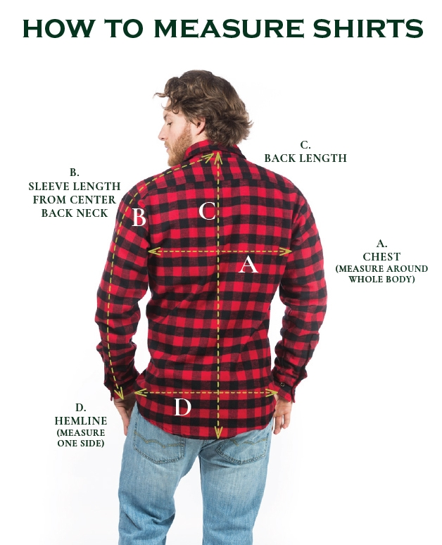flannel shirt how to measure flannel shirts wiuknvl