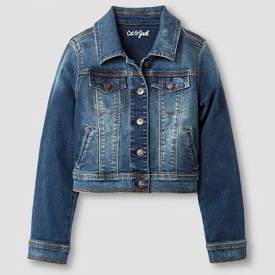 girlsu0027 jean jacket - cat u0026 jack™ dark vintage wash mhjfklg